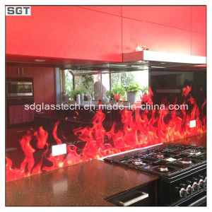 5mm-8mm Optiwhite Ultra Clear Colorful Lacquered Glass for Splashbacks pictures & photos