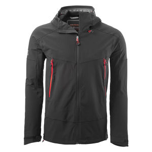 Mens Black Outdoor Winter Softshell Jacket with Waterproof Lamination pictures & photos