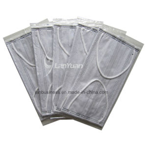 Single Piece Package Black Nonwoven Face Mask with Towers Pattern pictures & photos