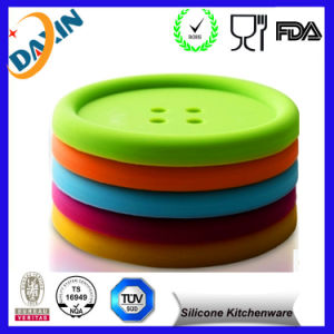 Button Shape Silicone Coffee Cup Mat pictures & photos
