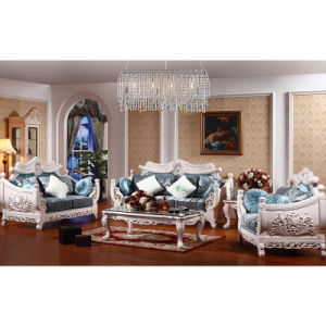 Wooden Sofa Set with Table for Living Room Furniture (D958) pictures & photos