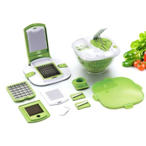 Useful 01 Commbination Salad Master, Salad Spinner and Chopper, Chopper, Slicer