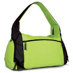 Polyester Gym Bag Weekend Bag with Cooler Pocket for Drink pictures & photos