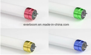 T8 LED Tube with Shining Color Metal End Cap