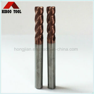 Hot Wholesale HRC60 Copper Coating Carbide Corner Raduis End Mill pictures & photos