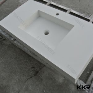 170406 Wholesale Customized Solid Surface Bathroom Vanity pictures & photos