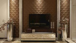 Customized Leather 3D Panel SL-013 for Indoor Wall Decoration pictures & photos