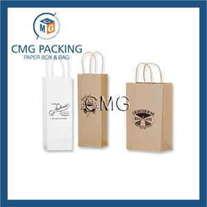 Black Paper Bag with Logo Printed (DM-GPBB-020) pictures & photos