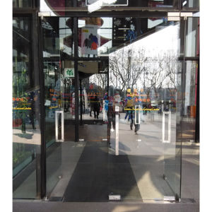 High Quality Frameless Swing Doors with Tublar Handles K08010 pictures & photos
