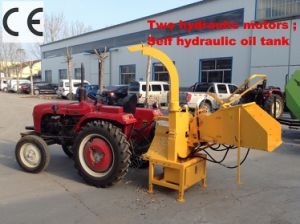 Self Hydraulic Two Engine Wood Chipper with CE pictures & photos