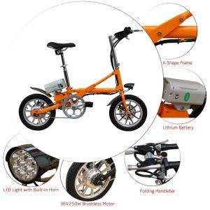 Aluminum Alloy Folding E-Bike with 36V Lithium Battery pictures & photos