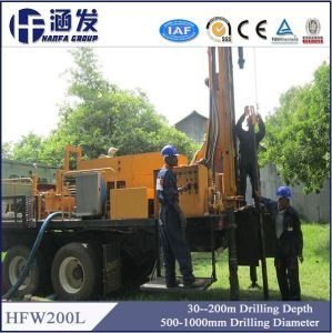 200m Depth Portable Hydraulic Water Well Drill Rig for Sale pictures & photos