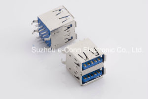 USB Type a Receptacle DIP Dual Layer Usbx-18fx-Xxd0-02 pictures & photos