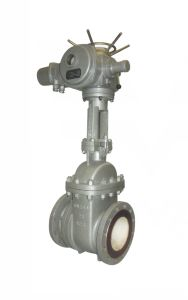 Electric Ceramic Scum / Slag Gate Valve (GPZ41TC) pictures & photos