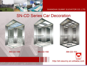 Elevator Cabin with Stainless Steel Frame (SN-CD-149) pictures & photos