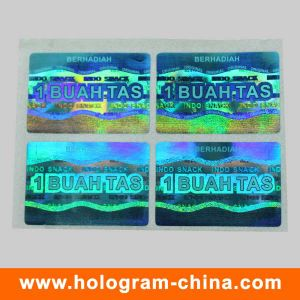 Blue 3D Laser Security Hologram Label pictures & photos