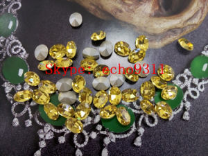 Light Topaz Point Back Crystal Stones Fancy Rhienstones for Wholesale pictures & photos