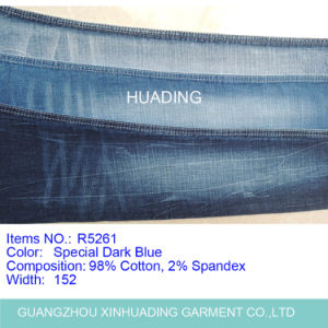 Made in China Cotton Indigo Blue Denim Fabric (R5261) pictures & photos