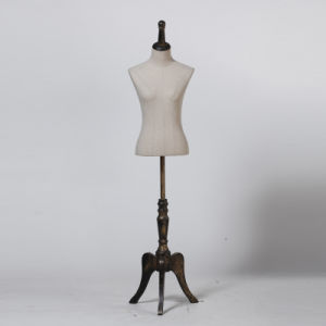 Good Quality Female Mannequin Bust with Wooden Tripod Baseplate pictures & photos