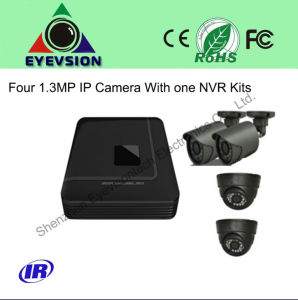 NVR Kits One NVR with Four 1.3MP IP Security Cameras (EV-1304NK) pictures & photos
