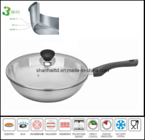 All-Clad 3ply Body Stainless Steel Cooking Wok pictures & photos