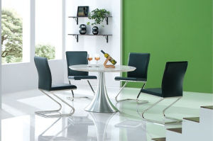 Marble Dining Table with Stainless Steel Chair Living Room Furniture pictures & photos