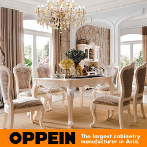 Luxury Brich Solid Wood Furniture Dining Room Table with Chair pictures & photos