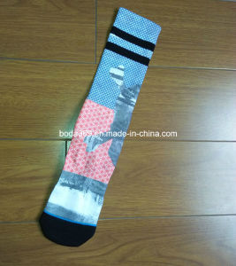 Mens Outdoor Printing Ski Socks