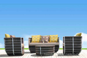 Modern European Style Outdoor Patio Rattan Sofa Furniture (F868) pictures & photos