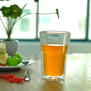 Octagon Double Wall Drinking Glass pictures & photos