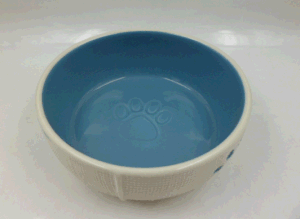 Stoneware Cat Bowl with Paws pictures & photos