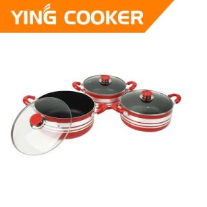 6PCS Non-Stick Aluminum Cookware Sets (YS-001)