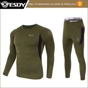 Esdy Tactical Outdoor Sports Warm Thermal Underwear Set pictures & photos
