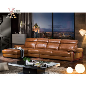 Yellow Leather Sofa (825)