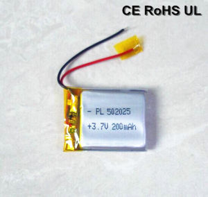 Rechargeable 502025 200mAh Li Polymer Battery (UL, CE) pictures & photos