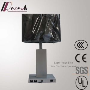 Modern Hotel Decorative Silver Bedside Table Lamp with 2PCS USB pictures & photos