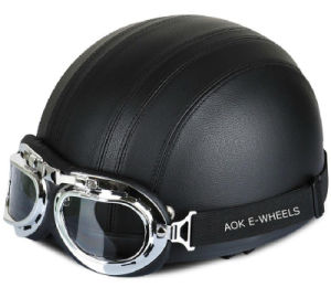 Classic Design Helmet Half Face Helmet with Goggle (MH-013) pictures & photos