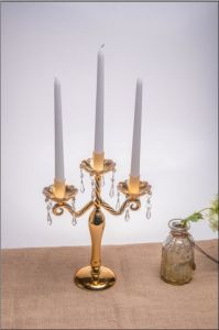 Glass Candle Holder with Three Posts by SGS (10*21.5*33.5) pictures & photos