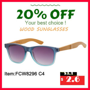 PC Frame with Bamboo Temples, Red Color Revo Lens Wooden Sunglasses in 2016 pictures & photos