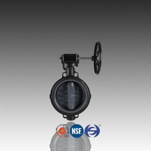 DIN ASTM JIS Geared CPVC Butterfly Valve for Chemical Industry pictures & photos