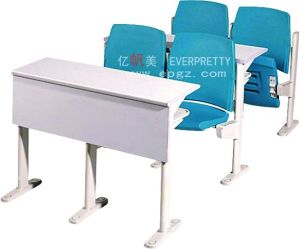 Fire Resistant School Wooden College Step Desk and Chair pictures & photos