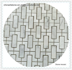 Nature White Stone Marble Mosaic for House Building Material pictures & photos