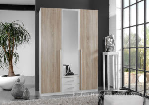 Free Standing Bedroom Wardrobe with Mirror (HF-EY08282) pictures & photos