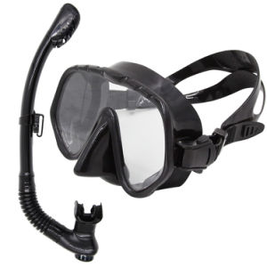 Low Volume Black Adult Silicone Diving Masks and Snorkels with CE Certificate (SN-1000) pictures & photos