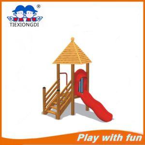 Plastic Wood Outdoor Children Playground for Amusement Park/School pictures & photos