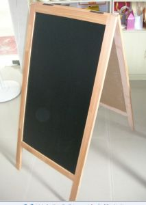 Double Chalkboard / Blackboard a Board Rustic Pine Light Oak Style Frame pictures & photos