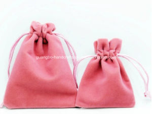 High-End Custom Velvet Drawstring Pouch Bag pictures & photos