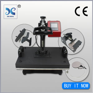 Manual Style5in 1 T Shirt Heat Press Machine pictures & photos