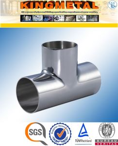 """4"""" Inch Wp316 Food Grade Stainless Steel Tee Pipe Fittings pictures & photos"""