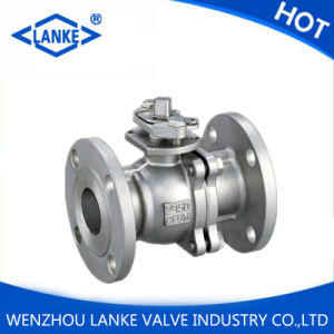 API 150lb Stainless Steel Flanged Ball Valve with Platform